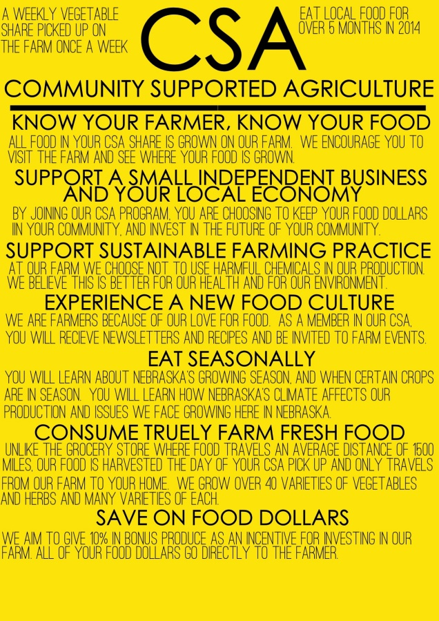There is still time to join our 2014 CSA Program! Here are a few reasons to join a CSA....